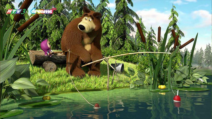 Masha và gấu xiếc câu cá