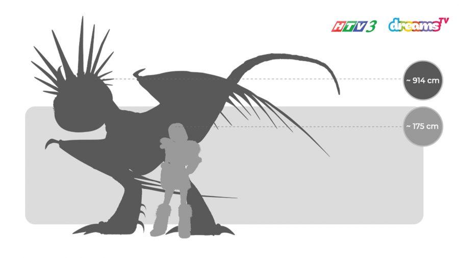 Kích thước của Lốc Xoáy so với Astrid | Vùng Đất Luyện Rồng HTV3 DreamsTV