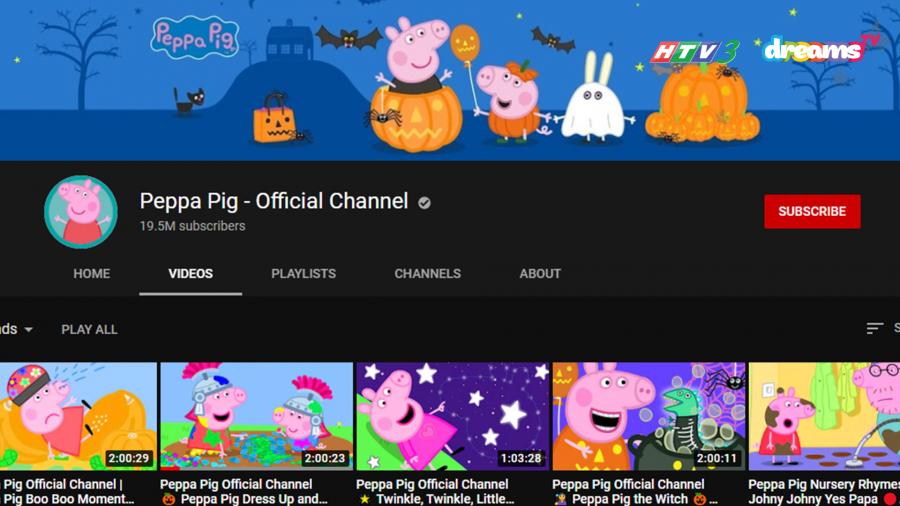 Kênh Youtube chính thức của Peppa Pig (Heo Peppa)