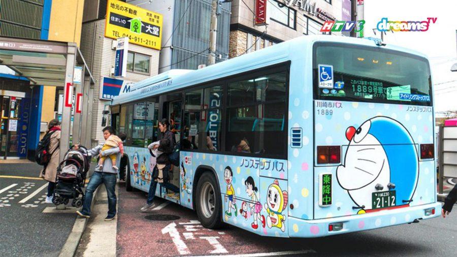 Xe bus đến bảo tàng Fujiko Fujio